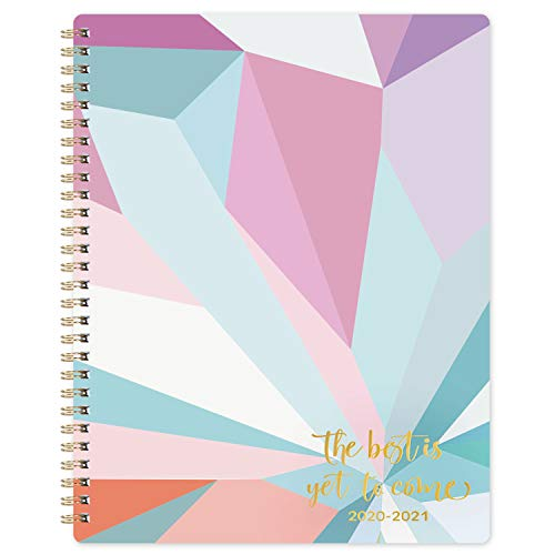 """2020-2021 Teacher Planner - Academic Lesson Planner with Quotes, 7.8"""" x 9.8"""", July 2020 - June 2021, Weekly & Monthly Pages with Thick Paper + Graph Paper + Special Dates + Holidays - Color Blocking"""