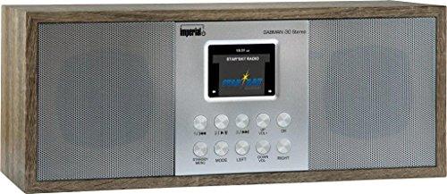 Imperial 22-134-00 Dabman i 30 Internet-/DAB+ Radio (Stereo Sound, Internet/DAB+/DAB/UKW, WLAN, LAN, Aux In, Line-Out, Kopfhörer Ausgang, inkl. Netzteil) Braun-Vintage