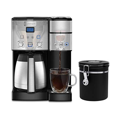 Cuisinart SS-20 Coffee Center 10-Cup Thermal Single-Serve Brewer Coffeemaker (Silver) Bundle with Chefwave Coffee Canister (2 Items)
