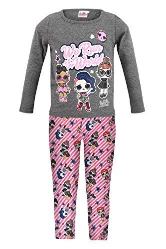 Characters Cartoons LOL Surprise – Juego de 2 piezas completo de camiseta de manga larga y leggings – otoño invierno 1195 Grigio 6 años