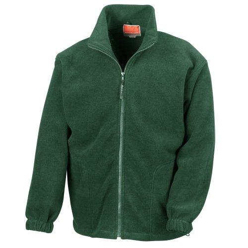 Result Mens Full Zip Active Fleece Anti Pilling Jacket L Forest Green