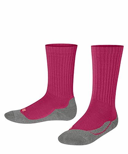 FALKE Unisex Kinder Active Warm K SO Socken, Rosa (Magenta 8046), 27-30