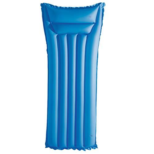 Luftmatratze Wasser Luft Matratze aufblasbar mit 2 Kammern und Sicherheitsventil Wasserliege Erwachsene Luftbett Pool Luft Matraze Wasserspielzeug (Blau)