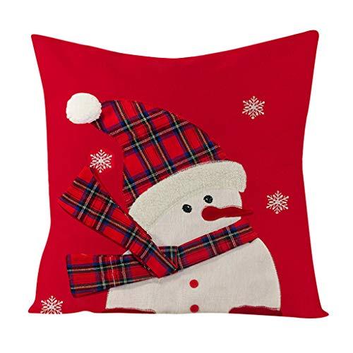 Zegeey Kissenbezug Weihnachten Weihnachtsschmuck Wohnkultur Weihnachtlichen Motiven Dekorative KissenhüLle FüR Festliche Hausdekoration Und Wohnzimmer Akzent(A6,45x45cm)