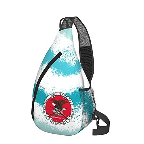 Mochila de viaje Senderismo Bolsa de pecho NRA National Rifle Association Sling Backpack Durable Travel Hiking Chest Bag Daypack for Women Men