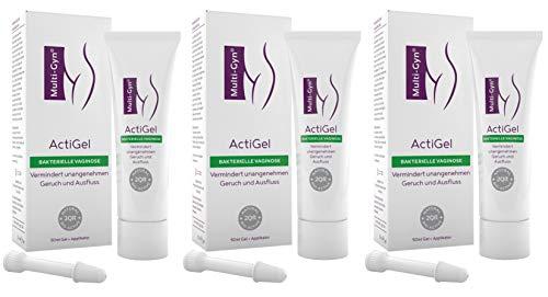 Multi-Gyn ActiGel - zur Behandlung und Vorbeugung bakterieller Vaginosen Tube mit 50 ml Gel für ca. 25 Anwendungen im Intimbereich und in der Scheide (x3)