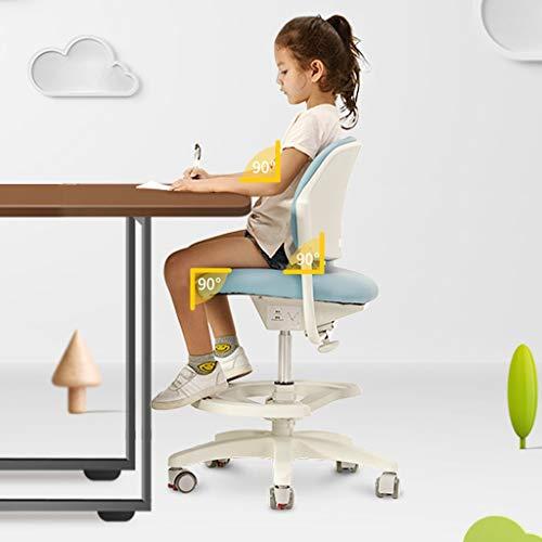Student Gaming Computer Stoel, Children's verstelbare stoel Study bureaustoel, verstelbare stoel Back Ergonomische Stoel, Home Anti-bult Bijziendheid Correctie Chair (Color : A)