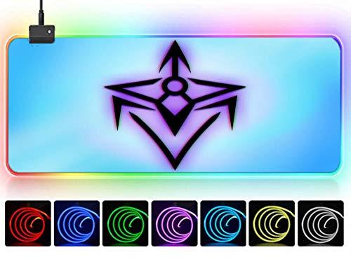 rgb mouspad Kreativer Minimalist des lila Diamantlogo-Ninja-Pfeiles Game Mouse Pad XXXL übergroße Desktop-Pad Game Pad riesige wasserdichte rutschfeste