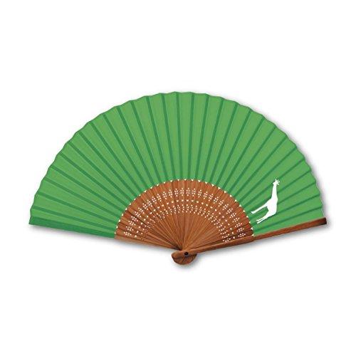 新日本カレンダー 扇子 アニマルシルエット 671 キリン