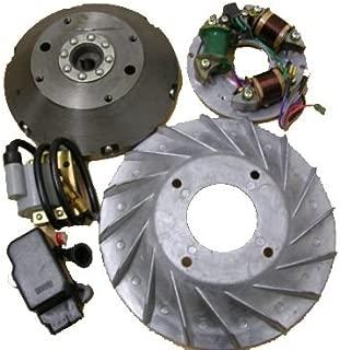 Vespa Stator Plate & Flywheel Electric Kit/Bajaj Zündung Polrad 6V to 12V Vespa VBB