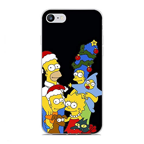 QNNN Transparent Silicone TPU Shockproof Clear Case Compatible with Apple iPhone 6 Plus/6s Plus-Simpsons-Family Bart-Homer 5