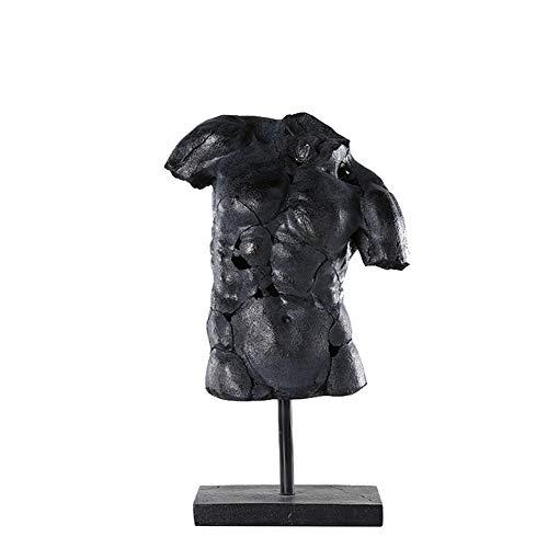 SDBRKYH Männlicher Akt Skulptur, Charakter Büste Statue Körper-Muskel Statue Kreative Harz-Kunst-Abbildung Büste Dekoration Crafts