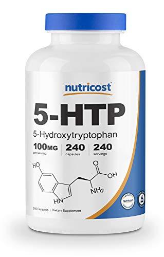 Nutricost 5-HTP 100mg, 240 Capsules (5-Hydroxytryptophan) - Veggie Caps, Gluten Free, Non-GMO