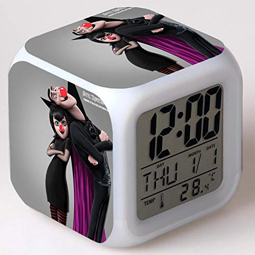 Kids Wizard Hostel Alarm Clocks Kids LED Clock Cartoon Night Light Flash 7 Color Changing Digital Clock Electronic Desk Clock a39