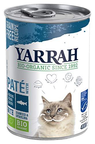 YARRAH Bio Katzenfutter Pate mit Fisch 400 g, 12er Pack (12 x 400 g)
