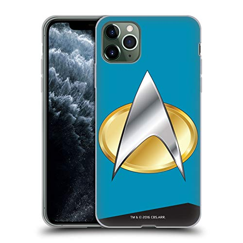 Officiële Star Trek Wetenschappen Uniformen en Badges TNG Soft Gel Case Compatibel voor Apple iPhone 11 Pro Max