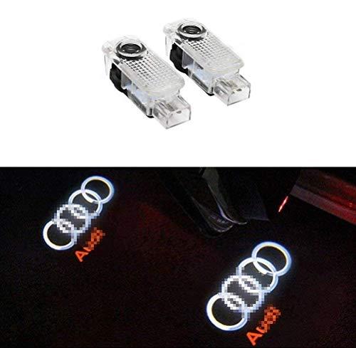 n/n Autotür Logo Licht, LED Auto Projektor Ghost Shadow licht türbeleuchtung Willkommen Lampe für Audi A8 A7 A6 A5 A4 A3 A1 R8 TT Q7 Q5 Q3 (2pcs)