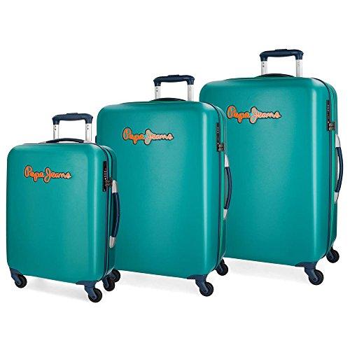 Pepe Jeans Bristol Juego de maletas, 204 litros, 77 cm, Verde