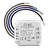 CTSC trailing edge dimmer - dimmer led 220v - regulador para led - silencioso, regulador de intensidad adecuado para LED regulables, lámpara incandescente halógena
