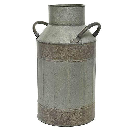 zeitzone Milchkanne Zink Blechkanne Henkel Vase Vintage Landhaus Pflanzgefäß 36cm
