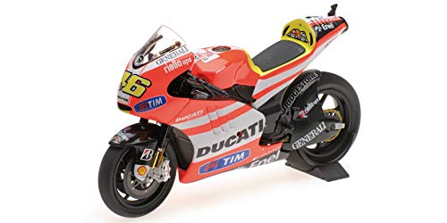 Minichamps 122112046 - Ducati Desmosedici Rossi MotoGP 2011 - Scala 1/12 - modèle de Collection