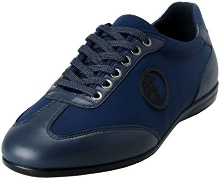 Versace Collection Men s Blue Leather Fashion Sneakers Shoes US 7 IT 40 product image