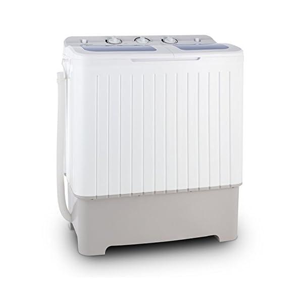 Oneconcept Ecowash XXL – Lavadora Capacidad 6.8 kg, Centrifugadora Capacidad 5.2 kg, Carga Superior, Potencia 400 W…
