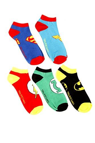 DC Comics Superhero No-Show Socken 5 Paar