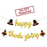 💖Celebrate Thanksgiving Decoration:Welcome your holiday guests with a Happy Thanksgiving banner that can't be missed.Hanging this heartwarming decoration in your foyer to greet guests.A boutique banner will bring the real fun and unforgettable memory...