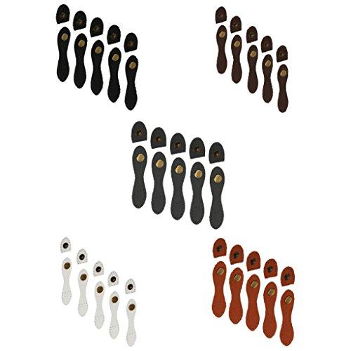 kowaku 25 Juegos 5 Colores Hebillas de Cuero en Forma de Pera Monedero Cierre de Cierre Accesorios para Bolsa