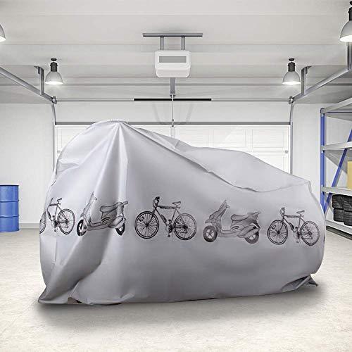 KLAS REMO Fahrradabdeckung wasserdicht Fahrradplane Fahrradhüllen Fahrradschutz Hülle Fahrrad Cover Bike Anti-Staub Abdeckung Hülle für Fahrrad Mountainbike schwarz grau - 4
