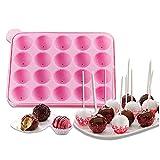 Tancurry Silikon CakePop Backform Kugeln Formen Silikonform für Lollipop Schokolade...