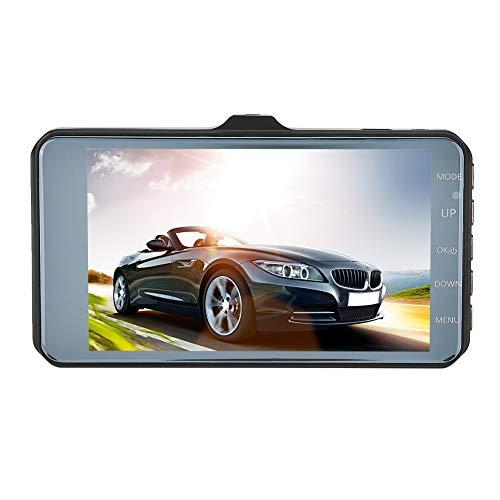 Allsor CáMara de Coche Dash CAM para Coches 1080P HD Grabadora de Conducción de Automóviles de 170 Grados Grabación en Bucle Cámara de Salpicadero de Doble Lente de 3,7 Pulgadas