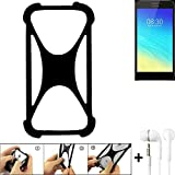 K-S-Trade® Handyhülle Für TP-LINK Neffos Y5S Schutzhülle Bumper Silikon Schutz Hülle Cover Case Silikoncase Silikonbumper TPU Softcase Smartphone, Schwarz (1x), Headphones