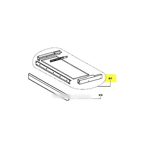 AIRLUX - tiroir support blanc pour hotte AIRLUX