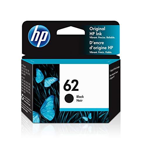HP 62   Ink Cartridge   Black   Works with HP ENVY 5500 Series, 5600 Series, 7600 Series, HP OfficeJet 200, 250, 258, 5700 Series, 8040   C2P04AN