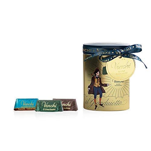 Venchi Cioccolatini Gianduiotti Assortiti in Lattina Regalo - Senza Glutine - 192 g
