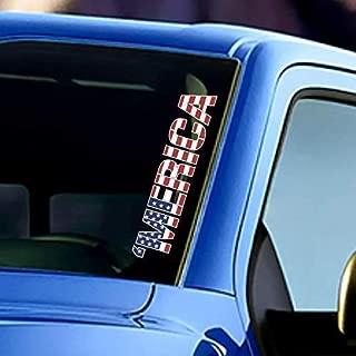 Merica Windshield Sticker Banner Vinyl Decal American Flag Stars & Stripes Car Truck Bumper Sticker
