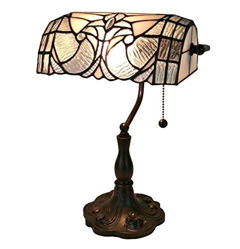 Tiffany Style Table Lamp Banker 14