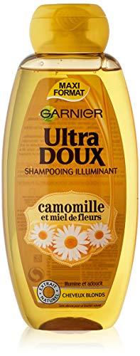 Garnier – Ultra weiches Haarpflegemittel / Shampoo mit Kamillenextrakt und Blumenhonig für blondes Haar – 400 ml – 1 Stück
