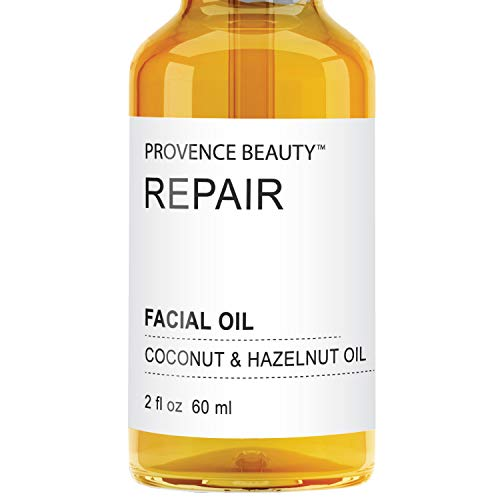Provence Beauty Active REPAIR Facial Oil | Enhanced with Coconut & Hazelnut Oil | Soften, Moisturizing and Hydrating Leaving Skin Smooth & Glowing | Repair & Nourish Damaged Skin - 2oz