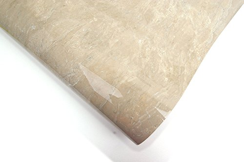 ROSEROSA Peel and Stick PVC Faux Marble Instant Self-Adhesive Wallpaper Covering Countertop Backsplash Sapphire Marble (PGS407 : 2.00ft X 6.56ft)