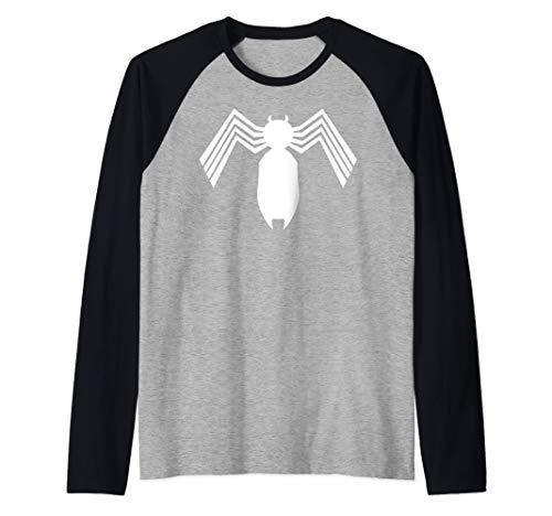 Marvel Spider-Man Arachnid All White Logo Camiseta Manga Raglan