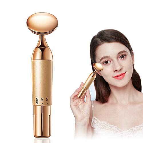 Facial-Massager Face Skin Eye Massage-Tool - Electric Sonic Vibration Beauty Skin Care Device Anti-Aging Dark Circles Wrinkles Eyes Puffiness Removal Tighten & Firm for Younger Looking Skin
