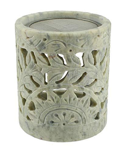 Budawi® - Speckstein Räucherstövchen Räuchergefäß Duftstövchen Duftlampe mit Sieb