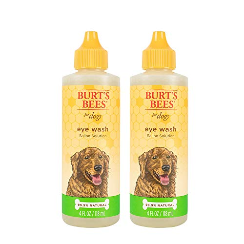 Burt's Bees for Dogs Natural Eye Wash with Saline Solution | Eye Wash Drops for Dogs Or Puppies| 4 Ounces - 2 Pack