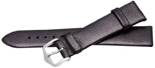 Bernex GB42231 - Correa de Cuero Unisex, Color Negro (18.0 mm)