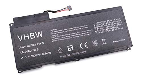 Batterie Li-Polymer 5900mAh 11,1 V pour Samsung NP-SF310, NP-SF410.Remplace Les Batteries suivantes:AA-PN3NC6F, AA-PN3VC6B, BA43-00270A, BA92-07034A.