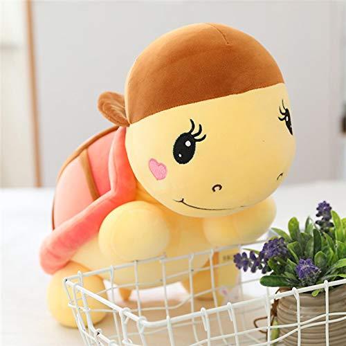 Sombrero Pequeña Tortuga de Peluche de Juguete muñeca de algodón de Peluche de Juguete Linda Tortuga bebé Regalo para niños súper Suave Felpa 60cm A