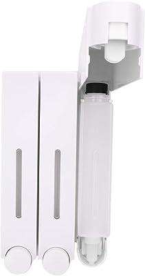 3つのヘッドが付いている壁に取り付けられた石鹸ディスペンサー壁の台紙のシャワー液体石鹸ディスペンサーホテルの浴室のための3つのヘッドシャンプーディスペンサー(白い)